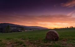 The Stolowe Mountains National Park. (remikrmk) Tags: mountains poland karw sunset spring summer national park sudetes lower silesia gry stoowe dolny lsk table szczeliniec dusk village straw harvest
