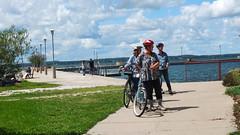 (sfrikken) Tags: lynne linda madison deb bike bicycle lake mendota tenney park jetty locks