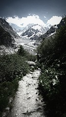 Mer de Glace (AmyEAnderson) Tags: merdeglace glacier mountains mountainside snowcapped mountain path trail wilderness france europe alps scenic rhonealpes montblanc
