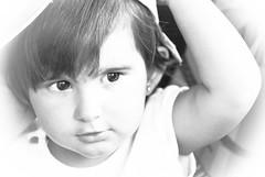Ella Reto Clave Alta Blanco y Negro (FMEGS) Tags: happy highkey clavealta baby blackandwhite blanconegro bn wow white children cute retrato portrait flickr family la love eyes d3000 tamron noiretblanc nikon