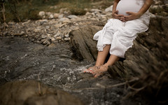 Maybe (Emmanuel RA) Tags: blue baby maternity pregnant pregnancy water river outdoors mom mother dress canon embarazo maternidad bebe mujer mexico monterrey love like cute