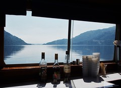 My Favourite Cafe (brightondj - getting the most from a cheap compact) Tags: lochlomond scotland ferry water loch scotlandaugust2016 cafe bar whisky bottle view lochlomondferry trossachs thetrossachs