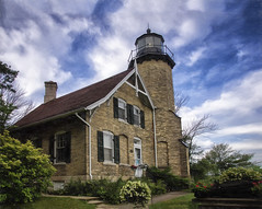 White River Light Station - Michigan (kweaver2) Tags: kathyweaver photography lighthouse lightstation landscape michigan lake greatlakes fineartphotography art sky clouds whiteriver whitehall