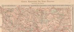 1907. Carte routire de Dion-Bouton. Environs de Paris 0 (foot-passenger) Tags: dionbouton  dedionbouton bnf gallica bibliothquenationaledefrance