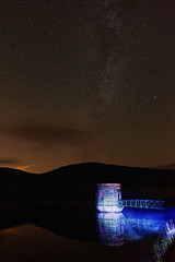 Night sky over Tallybont reservoir (PogiPete) Tags: wales tallybont reservoir milky way first attempt ever astrophotography
