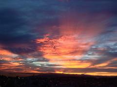just another tequila sunset (troutfactory) Tags:  dusk sunset clouds spectacular view mountrokko rokkomountain  kansai  japan  ipod5 digital