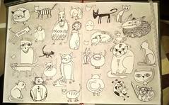 30 Katzen..  (frei nach bung 1 des Zeichenlaboratoriums, C.Sonheim) (Ste.ff) Tags:
