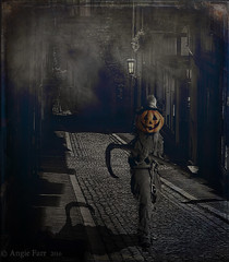 Jacks Back! (rubyblossom.) Tags: digitalmontage challenge13 halloween jackolanter streets victorian sytheshadows pumkin scary rubyblossom rubystreasures 2106n