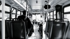 Electric Relaxation~ (K.Chris ~AlwaYs LeaRning~) Tags: trolley car bus train subway transportation public street urban blackandwhite