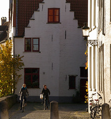 Beloved Brugge (Natali Antonovich) Tags: belovedbrugge brugge bruges belgium belgie belgique pensiveautumn autumn architecture tradition bikes street lifestyle style portrait