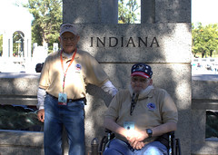 L-R: Wehrly, Frank / Wyman, Frederich (Fred) 21 Red (indyhonorflight) Tags: ihf indyhonorflight oct shawn murphy private3 21 red wwii memorial indiana frank wehrly wyman frederich fred