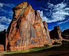 Redstone at Canyon De Chelley (JoelDeluxe) Tags: canyondechelley chelley tsyui navajonation nationalmonument canyon muertos cottowoods redrocks sandbed wash ruins az arizona hdr joeldeluxe