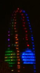 Torre Agbar de Nadal (bertanuri bcn) Tags: barcelona leica portrait tower cat lumix navidad noche torre bcn noel catalonia panasonic explore catalunya nuit lanscape nadal nigth nit agbar catalogne explored bertanuri fz45 bertanuribcn