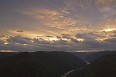 Sunrise in the New River Gorge National River, West Virginia (jkrieger84) Tags: fall nature clouds sunrise landscape newrivergorge wondersofnature cloudsstormssunsetssunrises