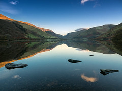 Early morning Talyllyn (Howie Mudge) Tags: uk sky mountain reflection nature water beautiful wales landscape photography scenery perfect pretty postcard hill ngc cymru scenic picture calm gwynedd snowdonianationalpark talyllynlake fantasticnature lumixgvario1442f3556 panasonicdmcgx7