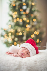 Santa's Helper taking a nap (cord1964) Tags: portrait people baby girl photography 50mm infant child bokeh newborn second holidays2014