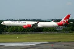 Virgin Atlantic | Airbus A340-600 | G-VWEB | Tokyo Narita (Dennis HKG) Tags: plane canon airplane tokyo airport aircraft virgin 1d airbus vs airbusa340 narita a340 virginatlantic nrt vir planespotting a340600 100400 airbusa340600 rjaa gvweb