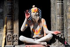 साधु sādhu (YellowSingle 单黄) Tags: nepal temple nikon religion 28 himalaya hinduism pashupatinath 2470mm d700 sādhu साधु