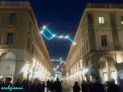 via roma a torino (archgionni) Tags: street people italy buildings square torino lights strada italia gente case luci piazza turin