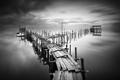 S T I L T S (CResende) Tags: wood light motion portugal pier blackwhite time decay fineart stilts carrasqueira cresende