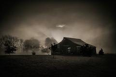 Barn at Dawn (shutterclick3x) Tags: blue blackandwhite barn rural sunrise dawn ridge ruralgeorgia frankloose