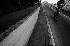 Bagong Ilog, Pasig (Johann Fredrik Nery) Tags: city travel blackandwhite man streets monochrome lines bike photography fuji philippines fujifilm roads fredrik johann pasig bagong nery ilog caudal 14mm xt1 fujifilmph xpph xpphmla xpphmanila project14mm