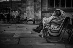 blankets and benches (Daz Smith) Tags: city portrait people urban bw man streets canon bench blackwhite bath sleep candid citylife thecity streetphotography blanket asleep canon6d dazsmith bathstreetphotography