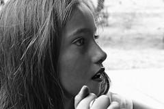 Ansiedad Inconfesada (Luciana Garca) Tags: portrait bw look children perfil bn nia mirada