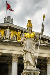 Pallas Athene Brunnen (PabloLopezPhotography.com) Tags: vienna house building water fountain greek gold austria golden justice boulevard brunnen rich von helmet wing pablo goddess parliament palace victory basin nike national empire figure chamber imperial council session wisdom lopez winged gilded viena athena hansen nationalrat armour federal legislature base athene sessions baron ringstrasse austrian hofburg spear decorated pallas hungarian austro bundesrat austrohungarian atenea glaf richly bicameral pablolopez ringstrase cisleithanian