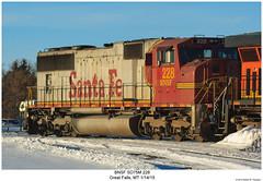 BNSF SD75M 228 (Robert W. Thomson) Tags: railroad santafe train montana diesel greatfalls railway trains locomotive trainengine bnsf emd burlingtonnorthernsantafe sixaxle sd75m sd75