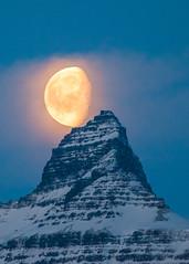 The Moon at 10:10 am (*Jonina*) Tags: iceland ísland faskrudsfjordur fáskrúðsfjörður moon tunglið mountains fjöll vadhorn vaðhorn sky himinn jónínaguðrúnóskarsdóttir 500views 50faves 1500views 2000views
