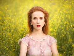Wildflowers ({jessica drossin}) Tags: flowers portrait woman photography redhead wildflowers plaid redhair jessicadrossin wwwjessicadrossincom jdbeautifulworldcollection