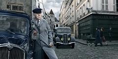 Raymond Dalban (blaisearnold.net) Tags: old paris france cars car commerce taxi taxidriver eglise peugeot poussette chauffeur landau saintblaise