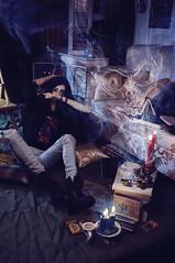 An ordinary night in Grims Life part 11 (Nattmaran) Tags: boy book design lucifer doll candles grim spirit character magic flames evil books story sofa horror demon nordic bjd worm occult abjd props alchemy supernatural necronomicon oujia ringdoll nattmaran rgmbody3