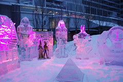 Icefest 33 (codie_horse) Tags: toronto statues talent wintertime yorkville icecarving frozenintime 2015 ancientegyptian blooryorkville 10thyear madeofice 10thannualicefest icefest15 bloorandyorkville