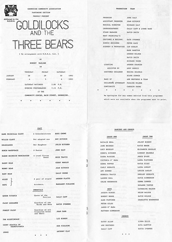1993 Goldilocks and the Three Bears 00 Programme