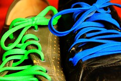 blue and green laces (dany morgens) Tags: blue green buffalo shoes grn blau schuhe laces bue schnsenkel weeklycolourchallenge