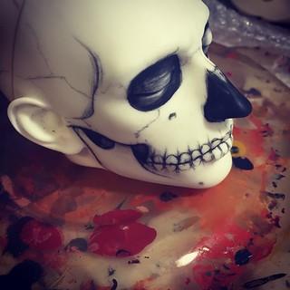 #WIP #dollshe #bjd #melancholykitties #skull