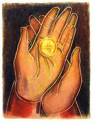Our Hands a Throne (lonnemanstudio) Tags: hands host reverence communion eucharist holycommunion bodyofchrist