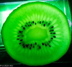 Kiwi on ice (LeChienNoir) Tags: macro green netherlands fruit canon studio frozen groen bevroren flash fresh kiwi flits 100mm28macro canonnl lechiennoir 5dm3 lechiennoirnl