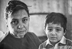 March 8th (Maurizio Scotsman De Vita) Tags: portrait bw italy baby film analog children kid scans flickr mother prints ritratto bambino stampe pellicola 35mmprint