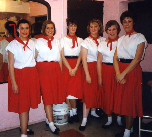 1993 Goldilocks and the Three Bears 01 (from left Kathy Allan, Katie (Ivermee) Bullock, Sally Capp, Julie Kitchen, Rita Hampton, Linda Ellis