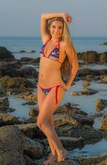 Jaclyn#14 (jlucierphoto) Tags: ocean sea woman hot sexy beach water girl beautiful beauty sport model rocks outdoor swimwear lovelyflickr