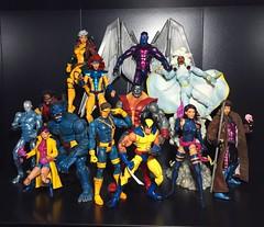X-Men: Blue and Gold - the Re-Up (Richard Zimmons) Tags: storm xmen legends rogue marvel figures 90s hasbro jimlee toybiz jeangrey