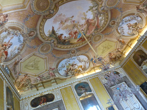 Reggia Caserta - Bourbon royal palace, state rooms, ceiling fresco (3)