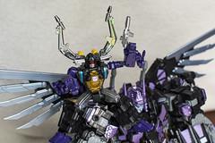 Ride 'em! (Jon..Hall) Tags: scale transformers oversized upgrade masterpiece shrapnel insecticon skywarp nerorex
