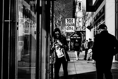 Van Ness Liquor (Jeremy Brooks) Tags: bw blackwhite blackandwhite busstop california marincounty people sanrafael street transit usa camera:make=fuji camera:make=fujifilm camera:model=xpro1 signs