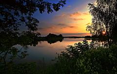 sunset (MarcelXYZ) Tags: cesarz marcelxyz drohiczyn landscape scenery sunset evening river canon