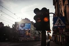 326/365 Signs (ewitsoe) Tags: 365 ewitsoe nikond80 2035mm 20mm street empty nopeople signs signage lot adverts reklama jezyce sunrise dawn poznan poland polska light lights walk wlaking crosswalk summer