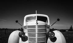 Oldie but goodie. (pmpiasecki) Tags: old blackandwhite monochrome truck vintage landscape blackwhite monotone transportation oldtruck ricohgr